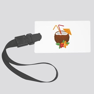 Tropical Coconut Drink Luggage Tag