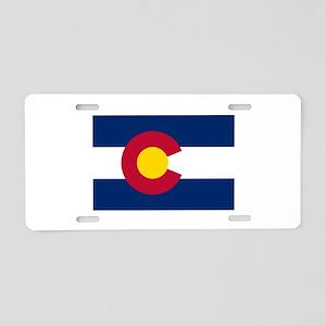 Colorado State Flag Aluminum License Plate