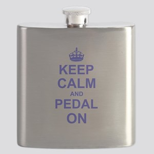 Keep Calm and Pedal on Flask