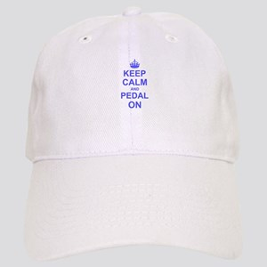 Keep Calm and Pedal on Cap