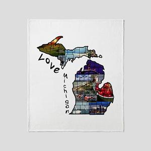 Love Michigan Throw Blanket