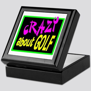 Crazy About Golf Keepsake Box