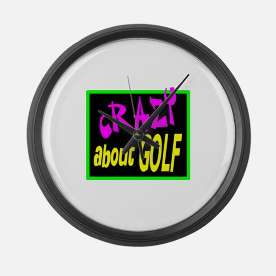 Crazy About Golf Large Wall Clock