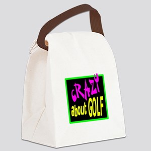 Crazy About Golf Canvas Lunch Bag