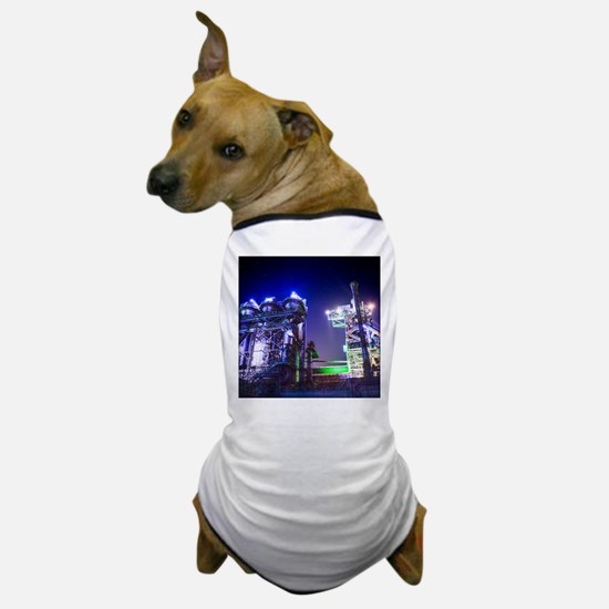 Industrial HDR Steel Plant Dog T-Shirt