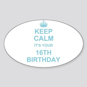 Keep Calm its your 16th Birthday - blue Sticker