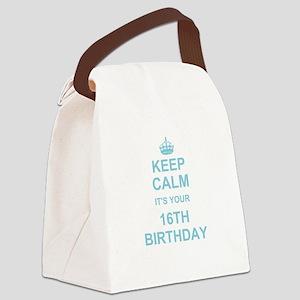 Keep Calm its your 16th Birthday - blue Canvas Lun