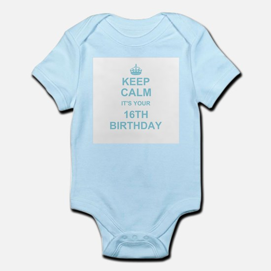 Keep Calm its your 16th Birthday - blue Body Suit