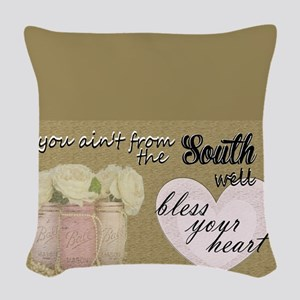 South Bless Your Heart Woven Throw Pillow