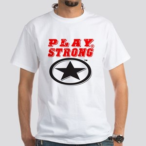 Play Strong Star White T-Shirt