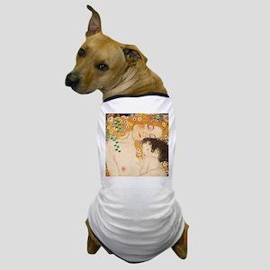 Klimt Mother and Child vintage art Dog T-Shirt
