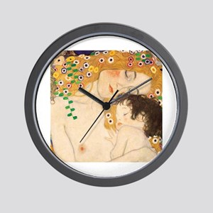 Klimt Mother and Child vintage art Wall Clock