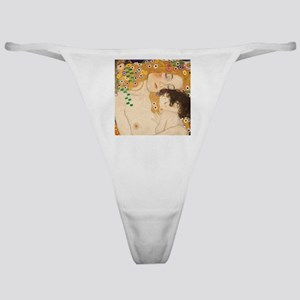 Klimt Mother and Child vintage art Classic Thong