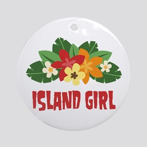 Island Girl Ornament (Round)