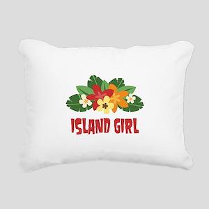 Island Girl Rectangular Canvas Pillow