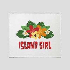 Island Girl Throw Blanket