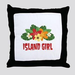 Island Girl Throw Pillow