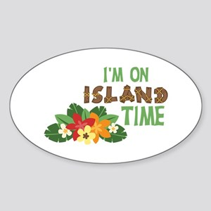 Im On Island Time Sticker