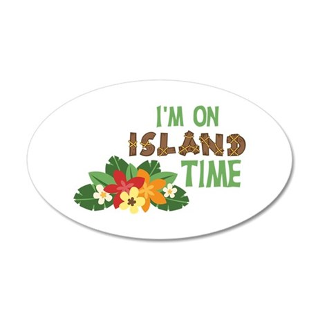 Im On Island Time Wall Decal & Tropical Wall Decals - CafePress