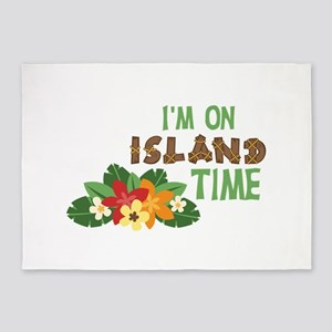 Im On Island Time 5'x7'Area Rug
