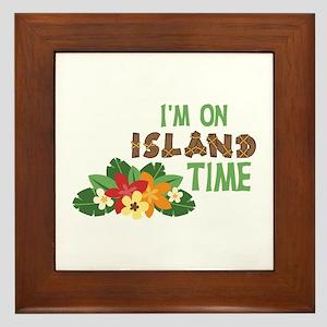 Im On Island Time Framed Tile