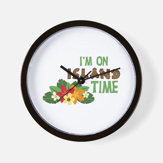 Im On Island Time Wall Clock