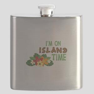 Im On Island Time Flask