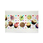 Eileen's Lovehearts Cupcakes Magnets