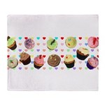 Eileen's Lovehearts Cupcakes Throw Blanket