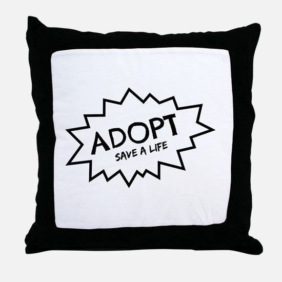 Adopt! Throw Pillow