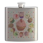 Loveheart Cupcakes Flask