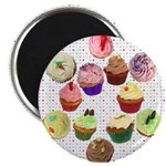 Loveheart Cupcakes Magnet