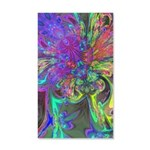 Glowing Burst of Color 35x21 Wall Decal
