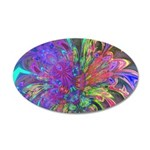 Glowing Burst of Color 35x21 Oval Wall Decal