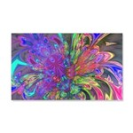 Glowing Burst of Color 20x12 Wall Decal