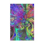 Glowing Burst of Color Mini Poster Print