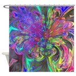 Glowing Burst of Color Shower Curtain