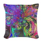 Glowing Burst of Color Woven Throw Pillow