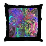 Glowing Burst of Color Throw Pillow