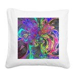 Glowing Burst of Color Square Canvas Pillow