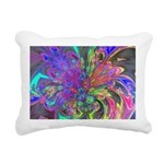 Glowing Burst of Color Rectangular Canvas Pillow