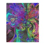 Glowing Burst of Color Throw Blanket