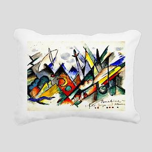 Franz Marc - Sonatine fo Rectangular Canvas Pillow