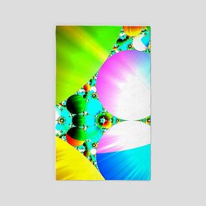 Crystal Sunrise Abstract 3'x5' Area Rug