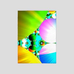 Crystal Sunrise Abstract 5'x7'Area Rug