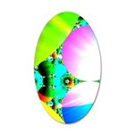 Crystal Sunrise Abstract 35x21 Oval Wall Decal