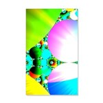 Crystal Sunrise Abstract 35x21 Wall Decal