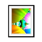 Crystal Sunrise Abstract Framed Panel Print