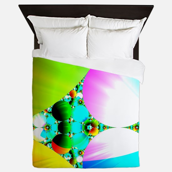 Crystal Sunrise Abstract Queen Duvet