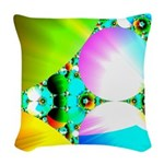 Crystal Sunrise Abstract Woven Throw Pillow